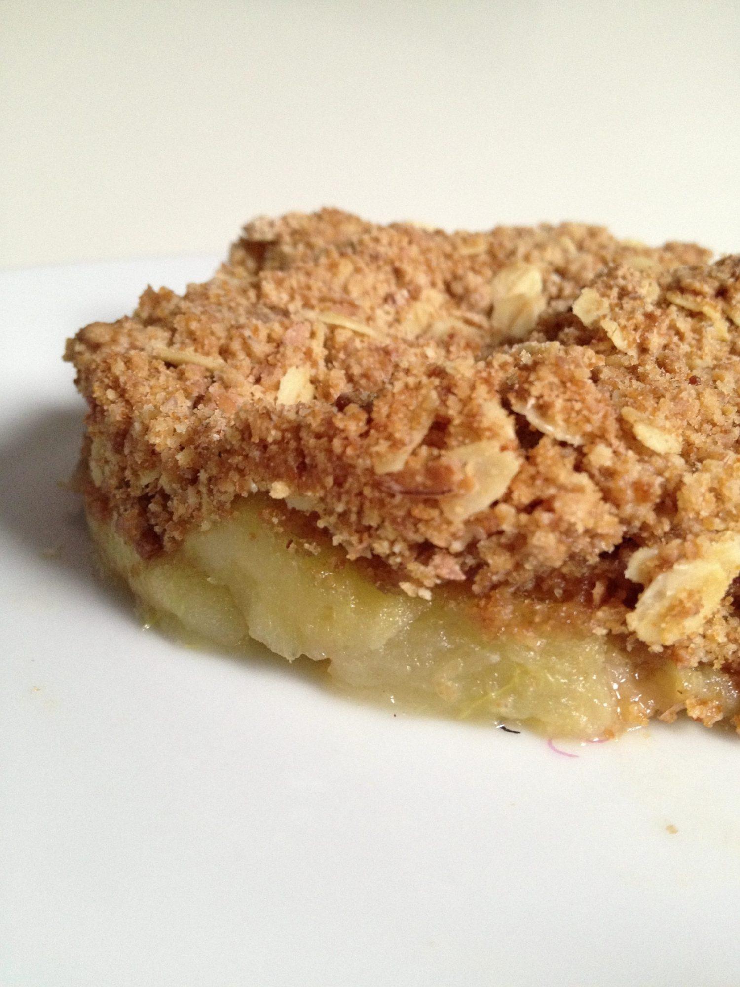 crumble pomme 233 peautre et flocons d avoine